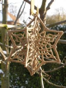 3D Snowflake Gold Green