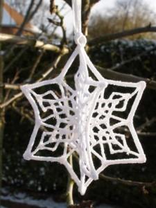 3D Snowflake White