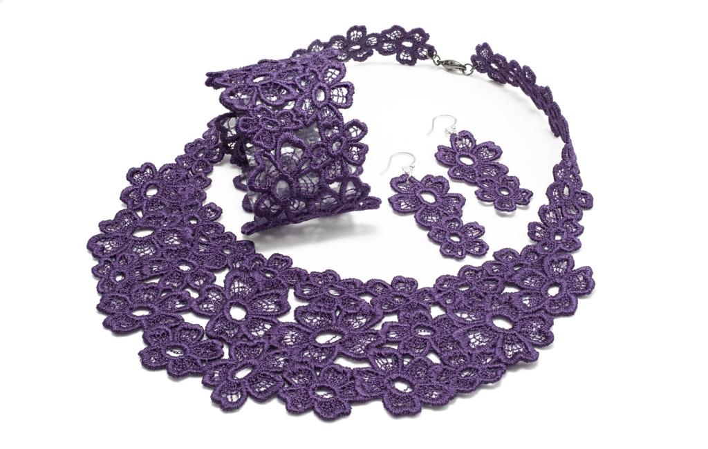 Necklace lace jewellery set 'Daisy Dreamer' by JC Middlebrook
