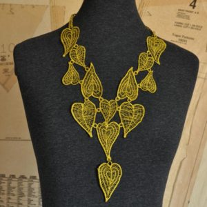 Moroccan Heart Lace Necklace Bamboo