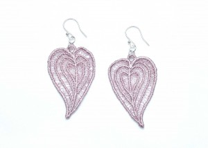 Lace Earring E4 Grey Lilac