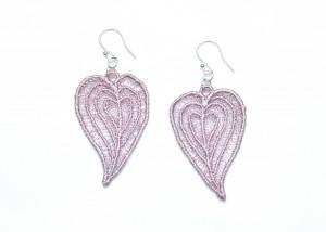 Lace Earring E4 Grey Lilac