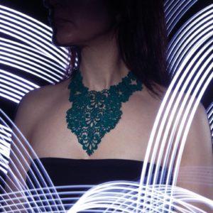 Trefoil Heart Lace Necklace NL1