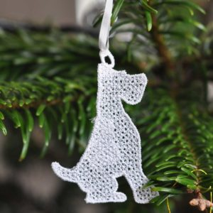 Wire Fox Terrier Lace Ornament