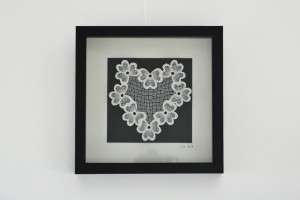 Framed lace heart