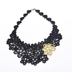 NL8 Neck Lace Black Gold