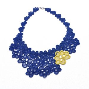 NL8 Neck Lace Navy Lime
