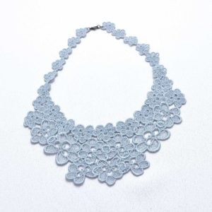 NL8 Neck Lace Silver Blue