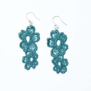 Lace Earring E7 Emerald