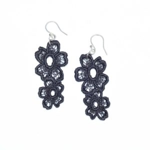 Lace Earring E7 Soft Black