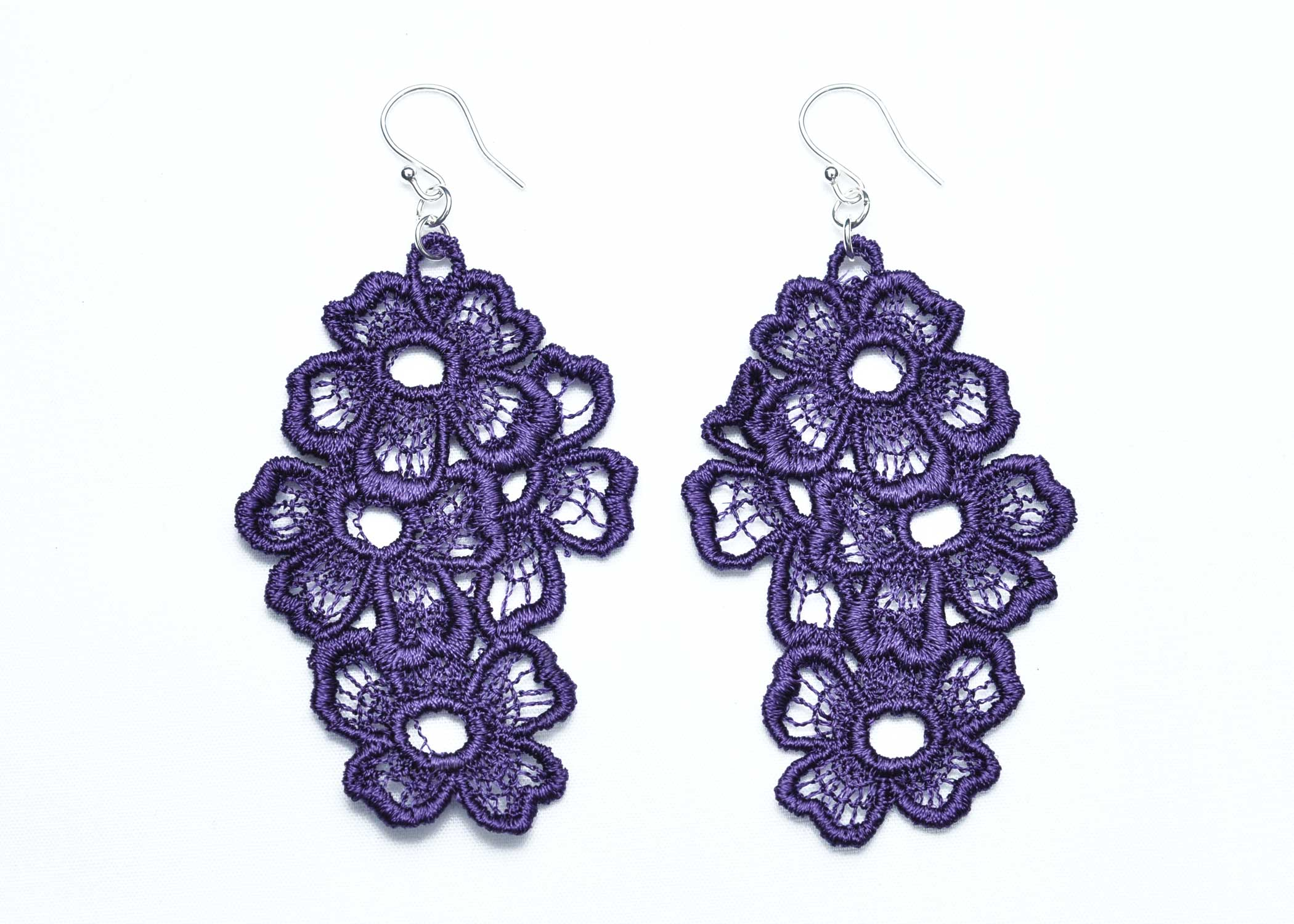 Lace-Earring-E11-Purple