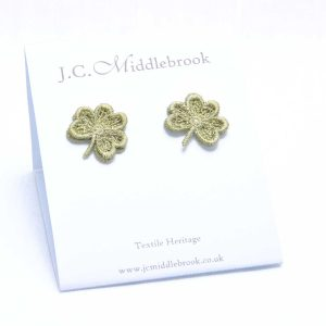 Leaf Green lace earring