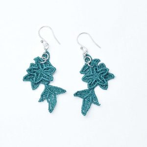 Jasper Lace Earrings in emerald
