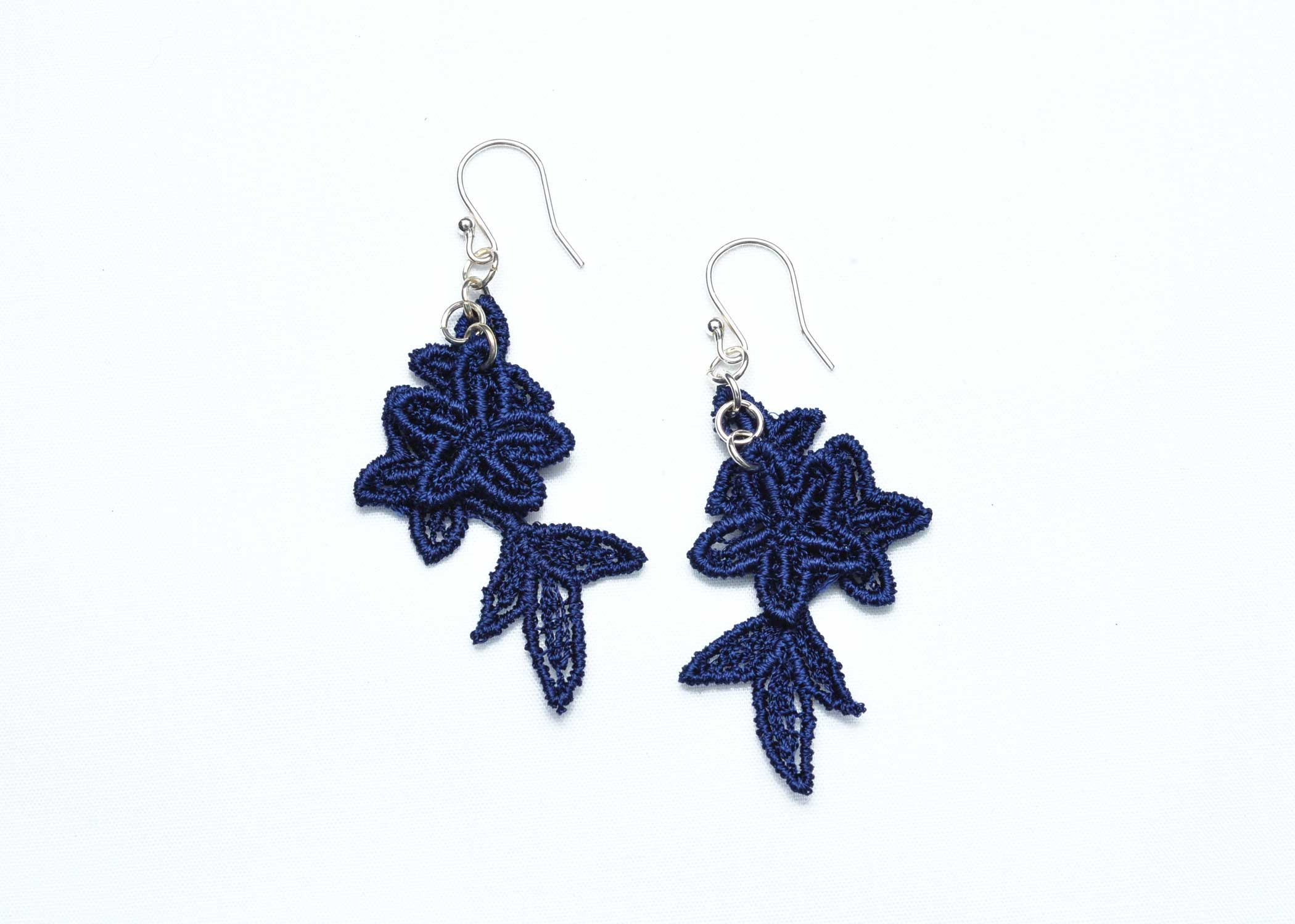 Lace-Earring-E8-Navy