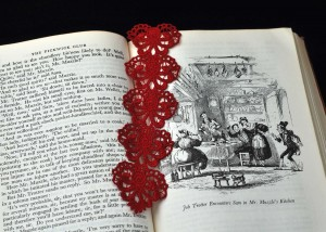 Lace Heart Bookmark