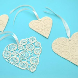 PorceLace Heart Ornament