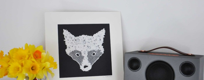 Lace Fox Head