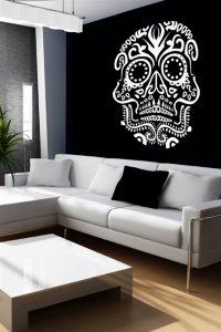 Skull Wall Tattoo