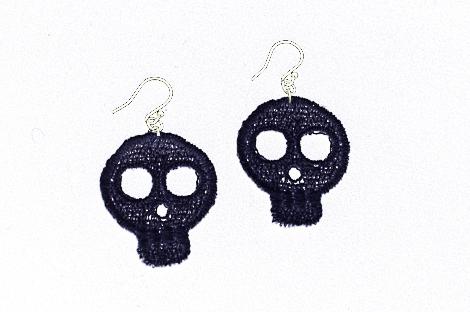 Skull-lace-earrings-small-black