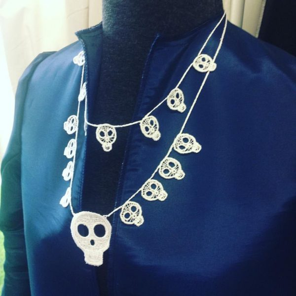 Insta-layered-skull-neck-lace