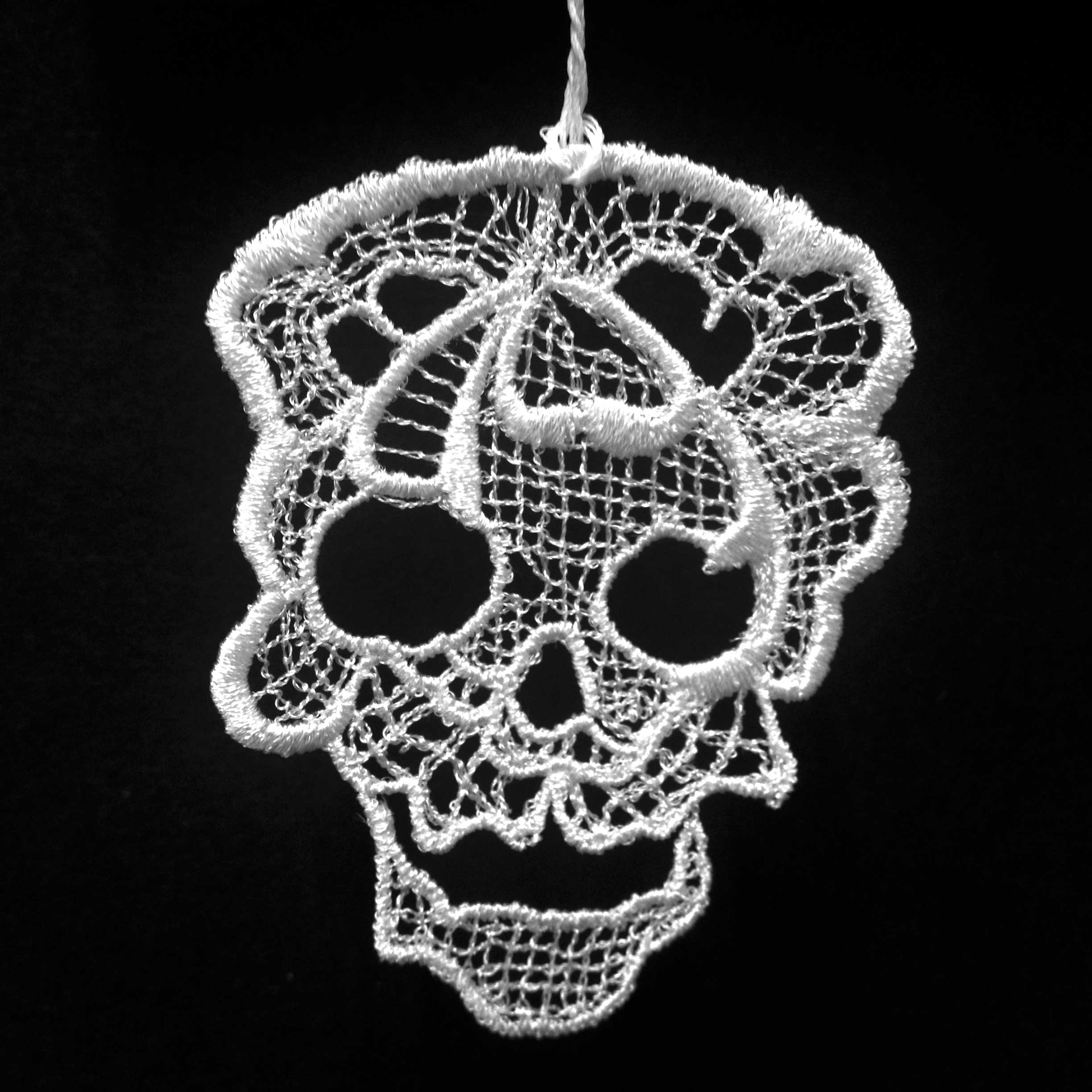 Lace Skull Hanging Ornament