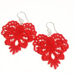 E21 Lace Heart Earrings
