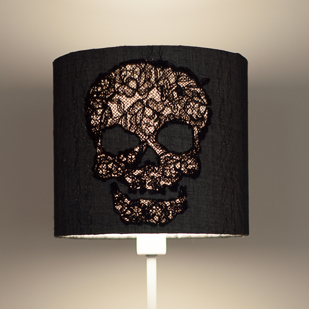 Lace Skull Lampshade