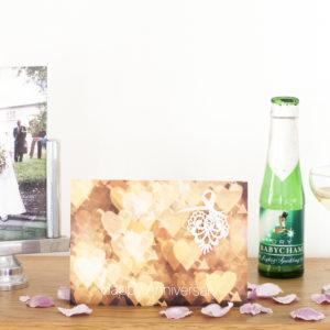 White Bokeh Lace Anniversary Card AJANN001