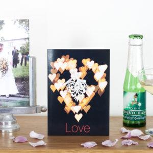 Bokeh Lace Love Card