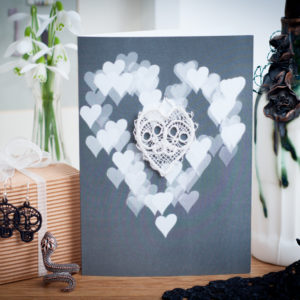 Skull Heart Lace Card AJBW04
