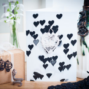 Skull Lace Heart Card AJBW05