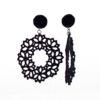 Black Lotus lace drop earrings