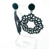Lotus lace drop earrings display