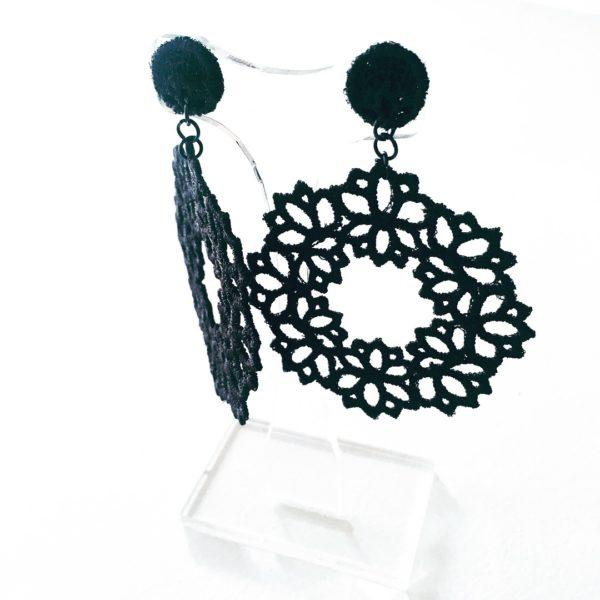 Lotus Lace Drop Earring
