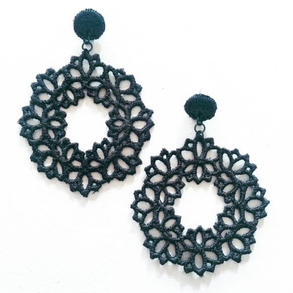 Lotus Lace Drop Earring Emerald