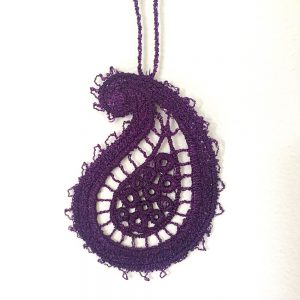 lace paisley ornament
