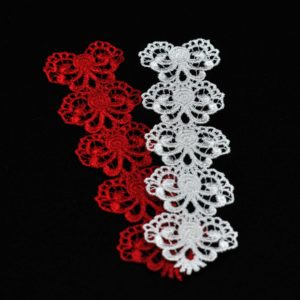 Lace bookmark hearts