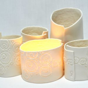 PorceLace tea lights