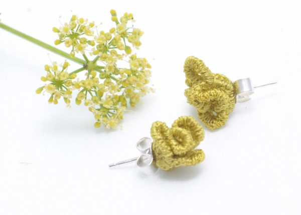lace earrings E18 Lime