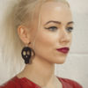 Lace skull earrings catwalk image