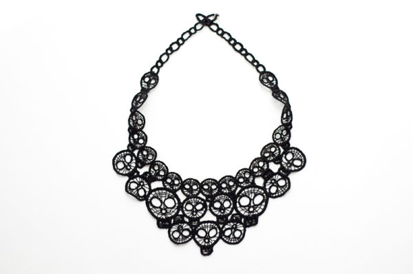 round skull neck lace