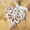 White lace heart keepsake
