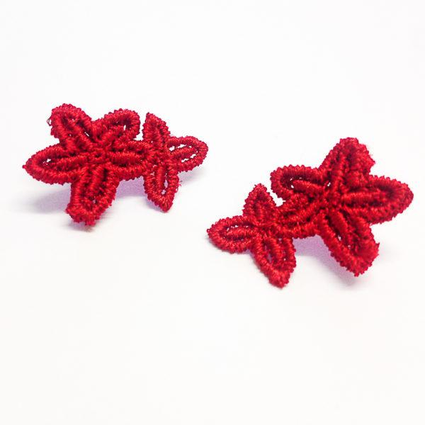 Jasper Lace Stud Earring