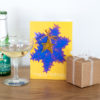 Gold lace star happy birthday greetings card