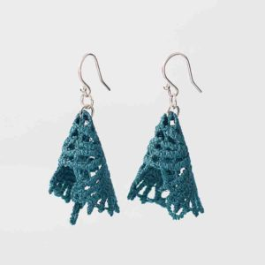 DH Lawrence lace earrings in emerald