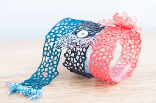 Fringe lace bracelets