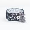 Fringe lace bracelet in black
