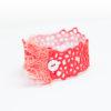 Fringe lace bracelet in coral